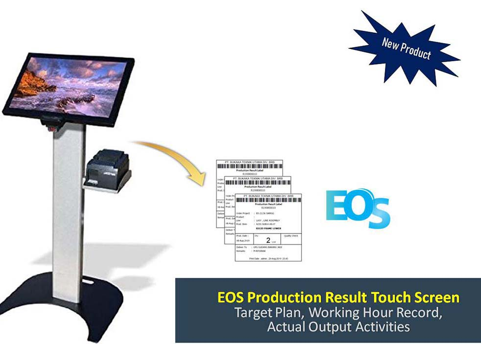 EOS Production Result Touchscreen - Software Produksi dan Input